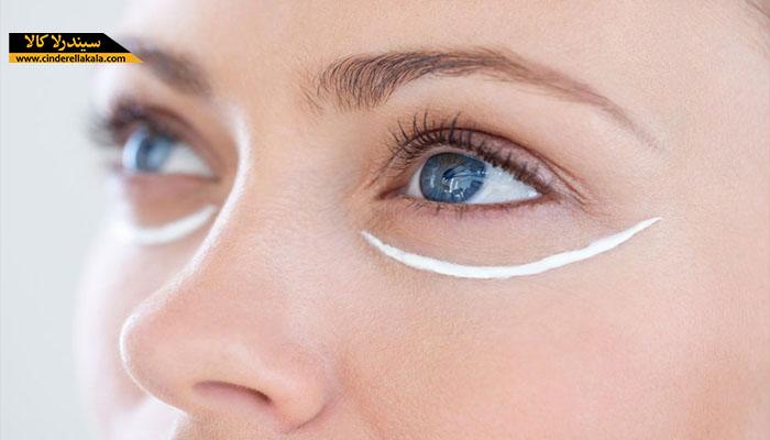 استفاده از کرم دور چشم