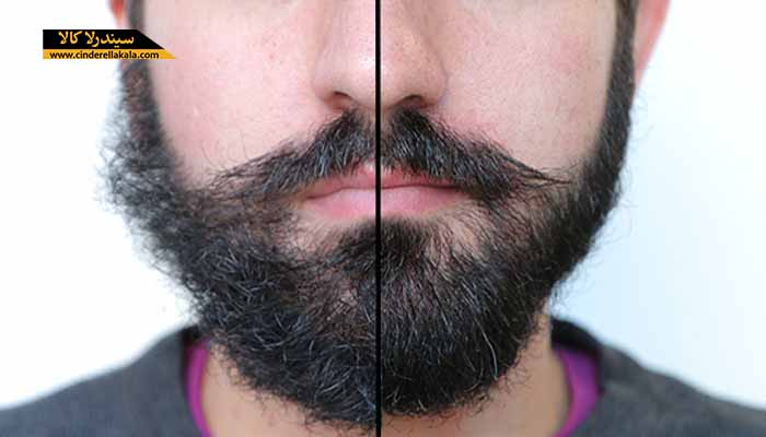 صاف کردن ریش های فر